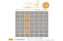 2016.11月 ヨガカレンダー