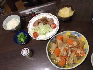豚の生姜焼き夕食