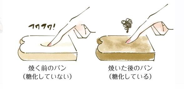 食パンの糖化